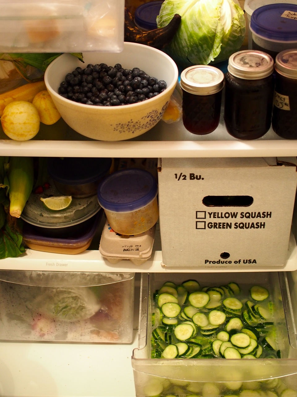 Pickling places heavy demands on one's fridge
